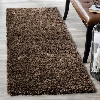 Safavieh California Cozy Solid Mushroom Shag Rug (2'3 x 13')
