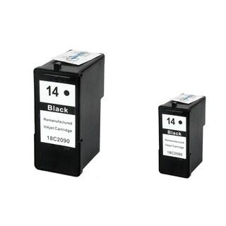 INSTEN Lexmark 14 Black Ink Cartridge (Remanufactured) (Pack of 2)