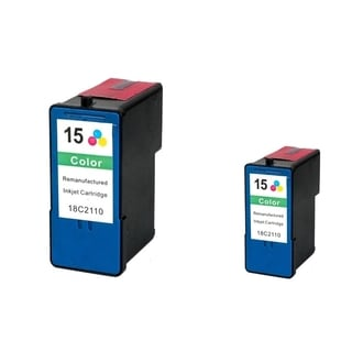 INSTEN Lexmark 15 Color Ink Cartridge (Remanufactured) (Pack of 2)