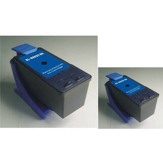 Refilled Insten Black Remanufactured Ink Cartridge Replacement for Lexmark 32
