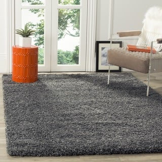 Safavieh California Cozy Plush Dark Grey/ Charcoal Shag Rug (4' Square)