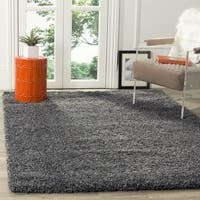 Safavieh California Cozy Plush Dark Grey/ Charcoal Shag Rug - 4' Square