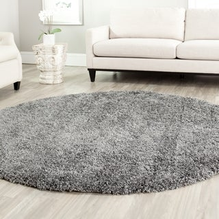 Safavieh California Cozy Solid Dark Grey Shag Rug (8'6 Round)