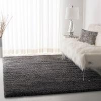 """Safavieh California Cozy Plush Dark Grey/ Charcoal Shag Rug - 8'6"""" x 8'6"""" square"""