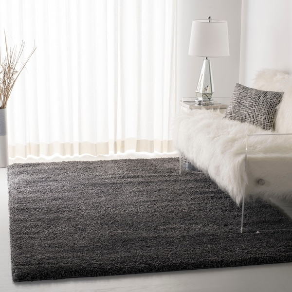 Shop Safavieh California Cozy Plush Dark Grey Charcoal