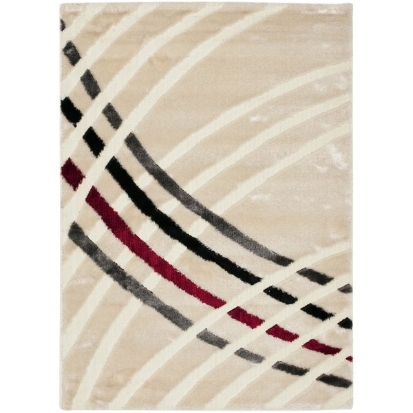 Safavieh Miami Shag Contemporary Silken-Embossed White Shag Rug (8'6 x 12') - 8'6 x 12'