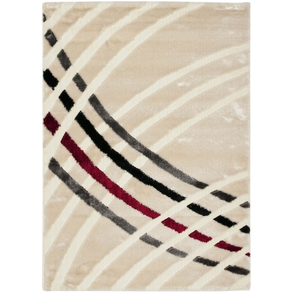 Safavieh Miami Shag Contemporary Silken-Embossed White Shag Rug - 8'6 x 12'