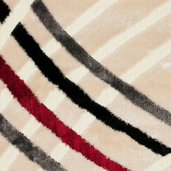 "Safavieh Miami Shag Contemporary Silken-Embossed White Shag Rug - 8'-6"" x 12'"