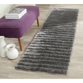 Safavieh Handmade Shag Silver Polyester Rug (2'6 x 4')