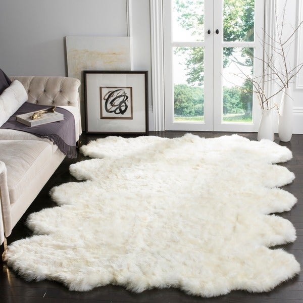 Sheepskin Rug Square: Shop Safavieh Hand-woven Sheepskin Pelt White Shag Rug