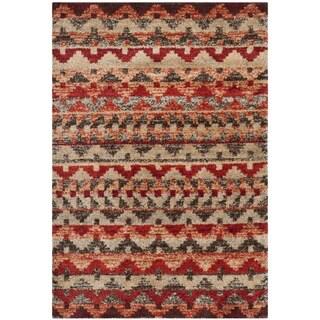 Safavieh Tahoe Brown/ Terracotta Rug (4' x 6')