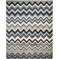 Safavieh Tahoe Grey/ Light Blue Rug - 5'1 x 7'6
