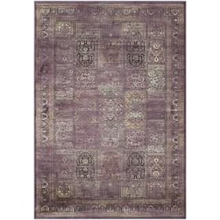 Safavieh Vintage Purple/ Fuchsia Viscose Rug (4' x 5'7)