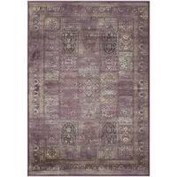 Safavieh Vintage Purple/ Fuchsia Distressed Panels Silky Viscose Rug (4' x 5'7)