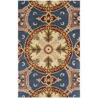 Safavieh Handmade Wyndham Blue/ Gold Wool Rug (2' x 3') - 2' x 3'