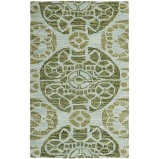 Safavieh Handmade Wyndham Turquoise Wool Rug (2' x 3')