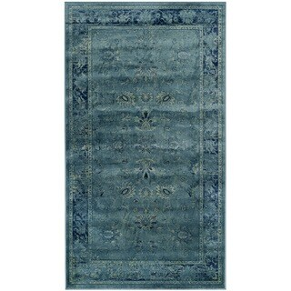 Safavieh Antiqued Vintage Turquoise Viscose Rug (2'7 x 4')