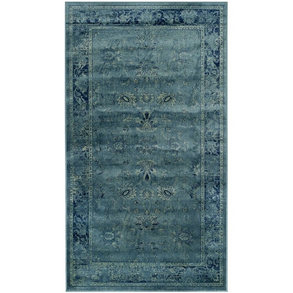 Shop Safavieh Vintage Oriental Turquoise Distressed Silky: Safavieh Vintage Oriental Turquoise Distressed Silky