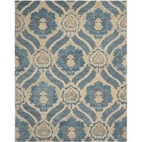Safavieh Handmade Wyndham Blue/ Grey Wool Rug - 10' x 14'