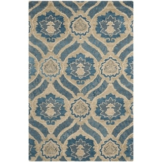 Safavieh Handmade Wyndham Blue/ Grey Wool Rug (6' x 9')