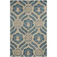 Safavieh Handmade Wyndham Blue/ Grey Wool Rug - 6' x 9'
