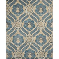 "Safavieh Handmade Wyndham Blue/ Grey Wool Rug - 8'9"" x 12'"