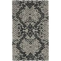 Safavieh Handmade Wyndham Grey/ Black Wool Accent Rug - 2' X 3'