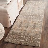 "Safavieh Handmade Wyndham Natural Wool Rug - 2'3"" x 9'"