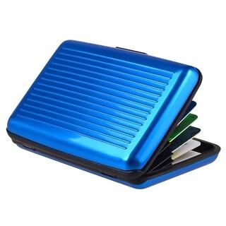 Zodaca Blue Aluminum Business Card Phone Case Cover