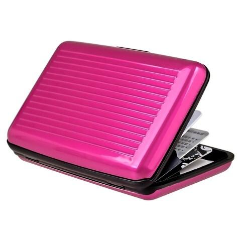 Zodaca Pink Aluminum Business Card Case