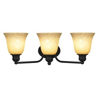 Chloe Transitional 3-light Rubbed Bronze Bath/ Vanity Light