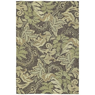 Indoor/Outdoor Fiesta Green Leaves Rug (9' x 12') - 9' x 12'