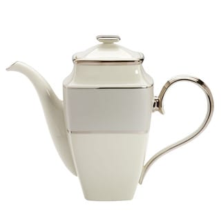 Lenox Ivory Frost Square Coffee Pot
