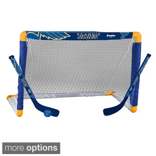 NHL Team Mini Hockey Goal, Stick and Ball Set