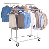Richards Homewares Free-standing Storage Double Parallel KD Garment Rack