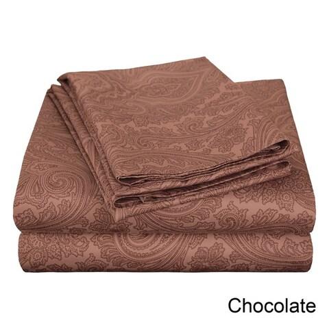 Luxor Treasures Italian Paisley 600 Thread Count Cotton Blend Pillowcases (Set of 2)