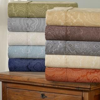 Superior 600 Thread Count Italian Paisley Cotton Blend Sheet Set