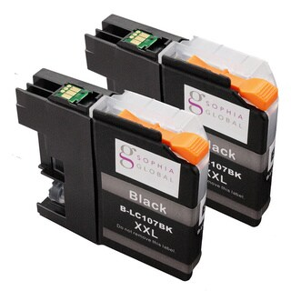 Sophia Global Compatible Brother LC107 Black Ink Cartridges (Pack of 2)