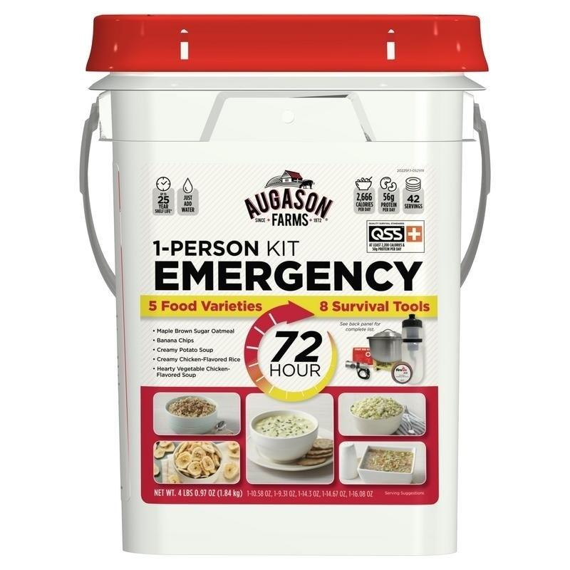 Augason Farms 1-Person 72-Hour Emergency Food Kit with Su...