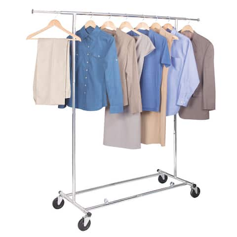Richards Homewares Chrome Free-standing Commercial Storage Garment Rack