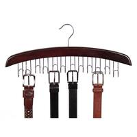 Richards Homewares Walnut Closet Accessories 12-belt Hardwood Hanger