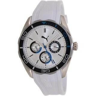 Puma Men's Challenger PU103192004 White Silicone Analog Quartz Watch