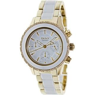 DKNY Women's NY8830 Chambers Round Two-tone Bracelet Watch
