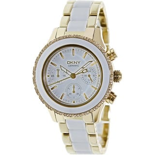 DKNY Women's NY8830 Chambers Round Two-tone Bracelet Watch|https://ak1.ostkcdn.com/images/products/8389850/8389850/DKNY-Womens-2-tone-Ceramic-Quartz-Watch-P15692641.jpg?impolicy=medium