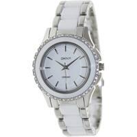DKNY Women's NY8818 'Chambers' Crystal Two Tone Ceramic Watch
