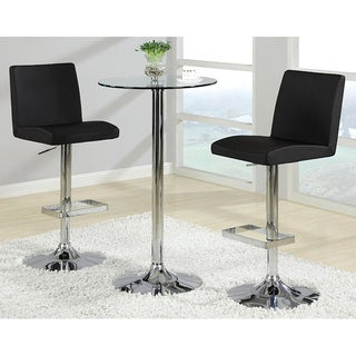 Avril Contemporary Adjustable Barstools (Set of 2)