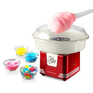 Nostalgia PCM405RETRORED Retro Series Hard and Sugar-free Candy Cotton Candy Maker