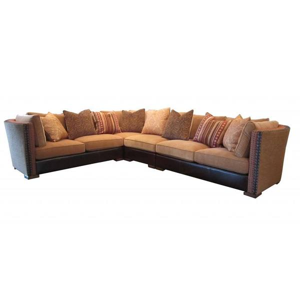 A.R.T. Furniture Ventura Madison Chenille and Leather Sectional Sofa