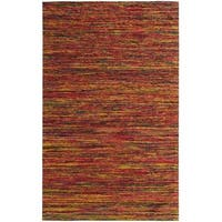 Hand-tufted Loft Varigated Stripe Multi/ Red Rug (5' x 8')