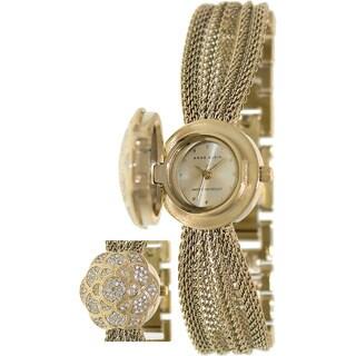 Anne Klein Women's Gold Metal Swiss Quartz Watch
